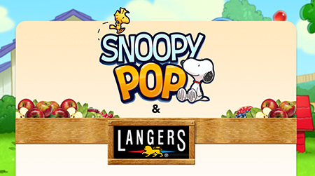 Snoopy Pop & Langers Juice Partnership