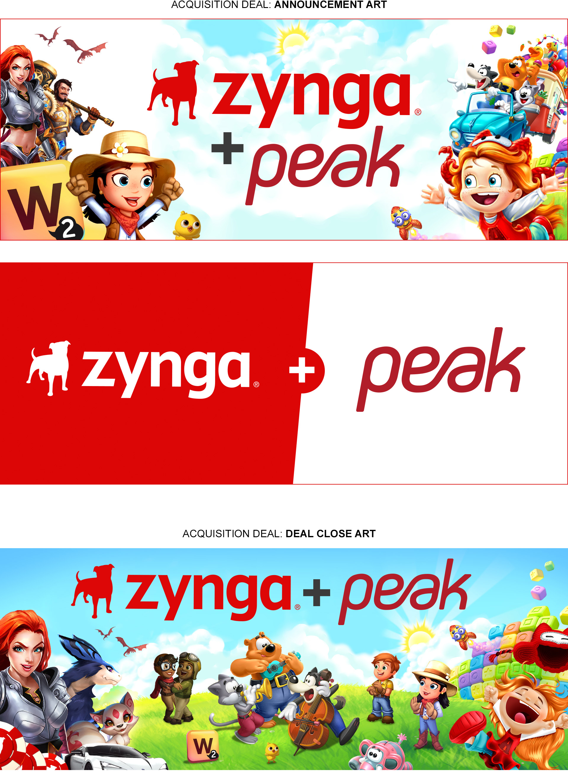 Key Art for Zynga's Peak Games Acquisition