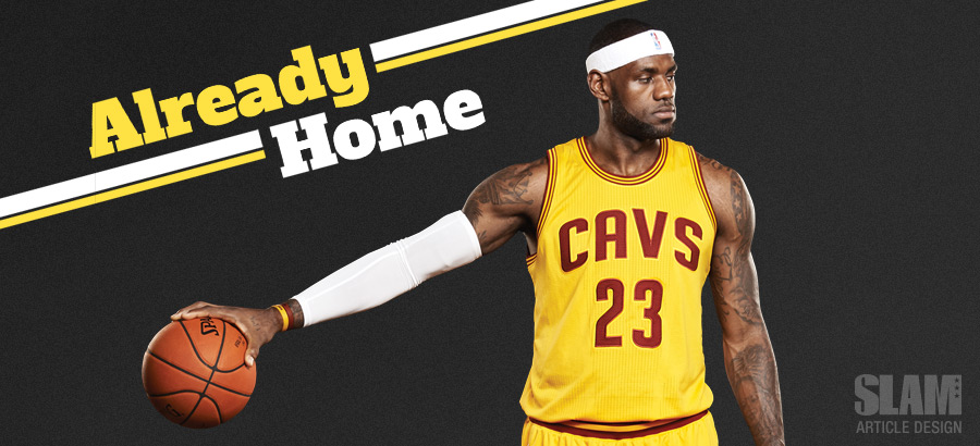 Article Design: LeBron James Already Home