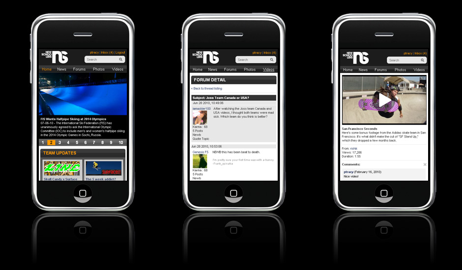 NewSchoolers Mobile Site